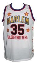 Huber Geese Ausbie #35 Harlem Globetrotters Basketball JerseyWhite Any Size image 4