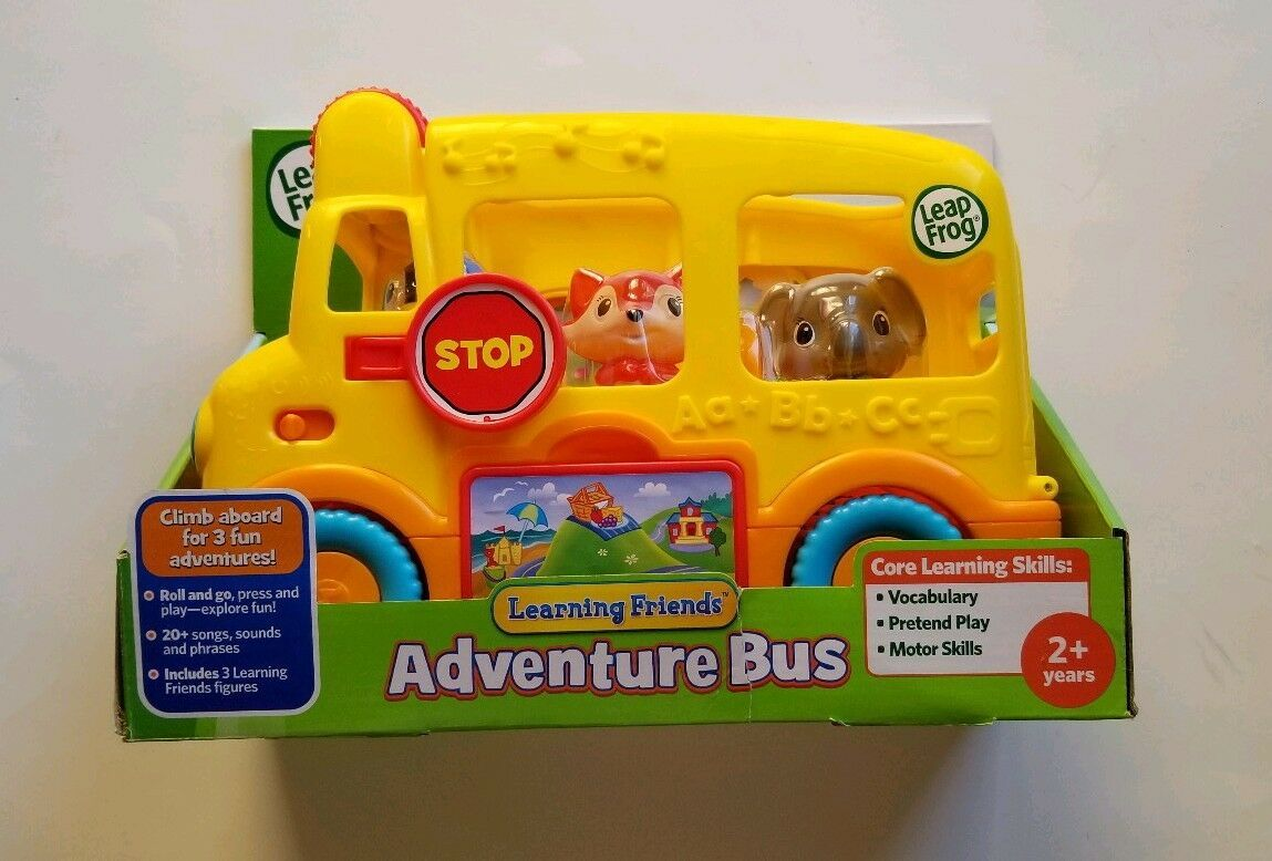 NEW Leap Frog Learning Friends Adventure Bus Core Learning Skills with Figures image 5