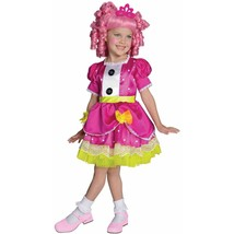 Lalaloopsy Deluxe Jewel Sparkles Girls Halloween Costume Pink Wig/Dress ... - $24.74