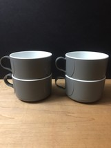 Vintage 70s Northwest Airlines Grey Inflight Coffee Service Cups image 2