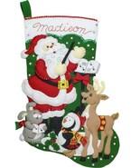 Bucilla Santas Choir Practice Deer Penguin Christmas Felt Stocking Kit 8... - $39.95
