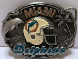 VTG Miami Dolphins Belt Buckle 1987 NFL Football Siskiyou Limited Editio... - $42.07