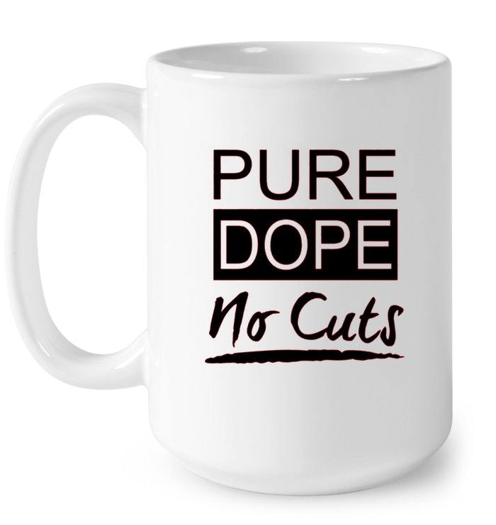 Mens Mens Pure Dope No Cuts Wht Sneaker Heads Basketball Gift Coffee Mug