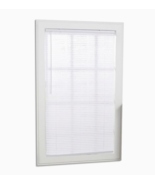 Light Filtering 1-in Slat Width 30-in x 64-in Cordless White Vinyl Mini ... - $17.95