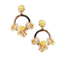 Kate Spade Floral Vibrant Life Statement Hoop Earrings NWT *Sold Out Sty... - $63.86