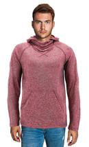 Men's Activewear Ninja Mask Thumb Hole Cuff Hooded Shirt w/ Defect - XL image 2