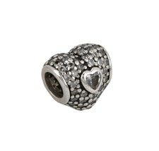 Authentic Sterling Silver Pandora In My Heart Clear CZ Charm Bead 791168CZ - $16.95