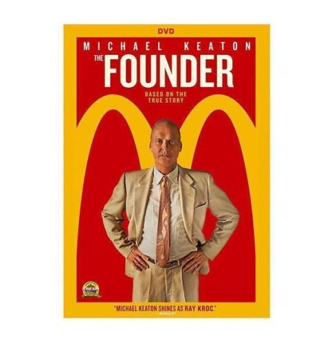 The Founder (DVD 2016 New] Michael Keaton Movie Ray Kroc McDonalds