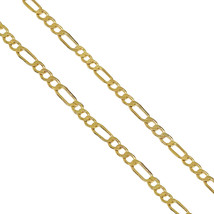 Unisex Real 10K Yellow Gold Figaro Chain 3.10mm Necklace High Polished 2... - $160.00
