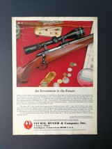 1977 Sturm, Ruger & Company Ruger M-77 Rifle Full Page Original Ad - $6.64