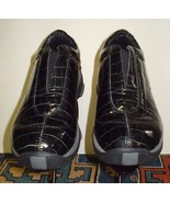 Women's Roper Performance Black Patent Leather Faux-Croc Loafer Sz. 38/7 US - $54.44