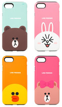 LINE Friends Guard Up Matte Case iPhone 7/7 Plus Hard Silicone Cover Mob... - $36.98