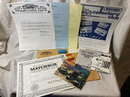 1982 Matchbox Collectors Club Handbook ,Pin, Catalog, Newsletter,Certifi... - $14.84