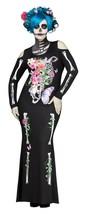 Fun World Precioso Huesos Azúcar Esqueleto Gótico Talla Grande Disfraz Halloween - $41.92