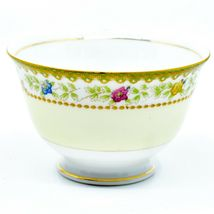 Meito China Blue Yellow & Pink Flower Gold Accent Teacup Tea Cup image 4