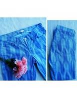 J Crew Jeans 27 Womans Straight Blue Aztec Print Blue Low Rise Classic  - $15.10