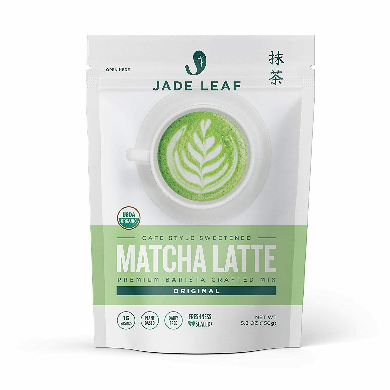 Jade Leaf Organic Matcha Latte Mix - Sweet Matcha Green Tea Powder (5.3 Ounce)