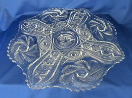 LE Smith, Galaxy, Punch Bowl Under Plate, No. 888, McKee Wiltec mould - $45.00