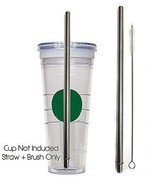 Stainless Steel Grande Replacement Straw Cold Cup To-Go Reusable Drink S... - $5.93