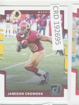 2017 Panini Donruss Jamison Crowder Washington Redskins #196  192695 - $1.86