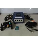 Testato Nintendo Gamecube Viola Console Sistema + Corde Mem Card Control... - $63.93