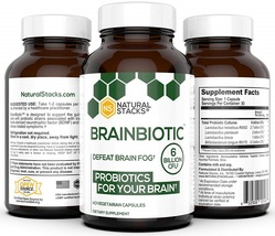 Natural Stacks: BrainBiotic - Brain Supplement - Gut-Brain Axis Optimize... - $96.99
