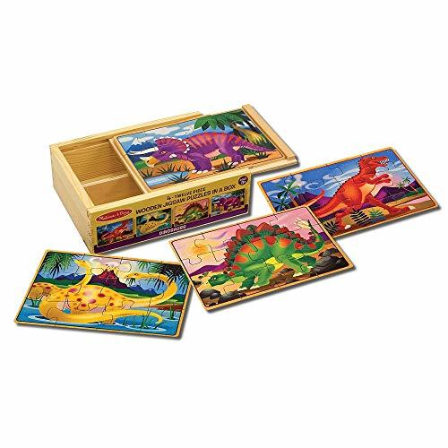 Melissa & Doug Wooden Jigsaw Puzzles in a Box - Dinosaur - $11.99