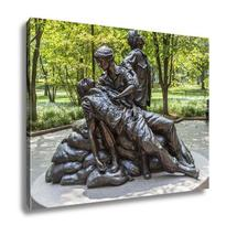 Gallery Wrapped Canvas, Washington July 14 2010 Memorial Statues Vietnam... - $162.44+
