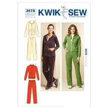 Kwik Sew K3678 Jackets and Pants Sewing Pattern, Size XS-S-M-L-XL - $15.68