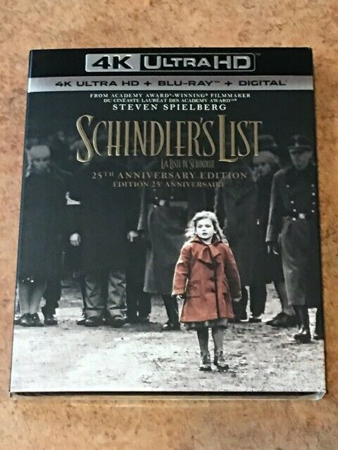 Primary image for Schindler's List  (Canadian 4K UHD/Blu-ray with USA Compatible Discs) BRAND NEW