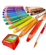 STABILO - Woody 3 in 1 Multi-Media Watercolour Pencils - Jumbo Easy-Grip... - $45.21