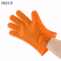 1pc Anti-Slip Heat Resistant Silicone Glove Cooking Baking BBQ Oven Pot Ho - $10.39