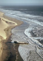 Art print POSTER/Canvas Aerial View of Skeleton Coast - $3.95+