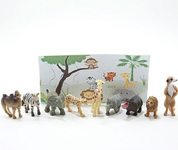 Doll House Shoppe 9 Toy African Animal Figures mul6001 Micro-Mini Miniature - $10.34
