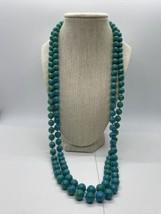 Vintage Blue Green Necklace  - $39.59
