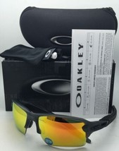 Polarized OAKLEY Sunglasses FLAK 2.0 XL OO9188-10 Grey Smoke Frames+Fire Iridium