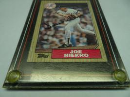 VTG AUTOGRAPHED JOE NIEKRO 1987 BASEBALL CARD. SEALED IN PLASTIC CASE. - $57.09