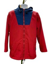 Lands End Squall Parka L 42-44 Hood Fleece Lined Polartec Hooded Primary... - $45.99