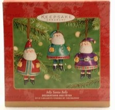 Hallmark Keepsake Ornament Jolly Santa Bells 2001 - $17.82