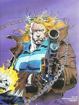 Ghost Rider Johnny Blaze Poster Adam + Andy Kubert Marvel 1992 - $5.50