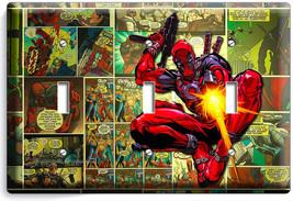 Deadpool Superhero Comics Book Page 3 Gang Light Switch Wall Plate Room Hd Decor - $16.19