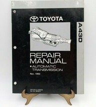 1993 Toyota A43D Automatic Transmission Factory Shop Repair Manual RM387U - $56.95