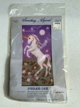 Something Special Unicorn Rearing Fine Gauge Needlepoint Eye Glass Case ... - $16.00