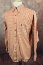 George Strait Cowboy Cut Collection Wrangler MGST59M Orange Plaid Shirt ... - $24.74