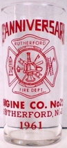 Rutherford Fire Dept. Rutherford N.J. 75th Anniversary Glass - $15.00
