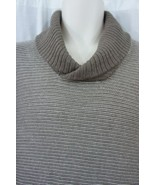 Tasso Elba Sweater Mens Sz L Walnut Heather Brown Luxury Silk Blend Henl... - $61.64