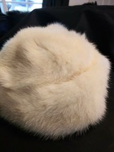 Vintage 50's Blonde Fur Mink Hat Cap Pillbox Bucket Beret Ladies Womens ... - $59.35