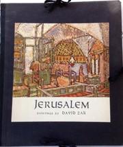 Jerusalem  Paintings by David Zak 8 Art Plates in Portfolio 1964 Thomas ... - $19.90