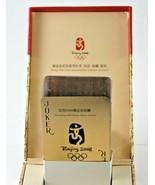 Olympic Poker Series Box Card Set Golden Movement Modeling Pokers 2008 B... - $24.99