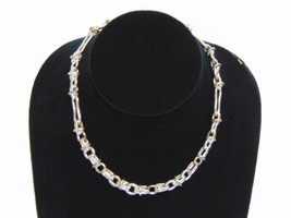 Heavy Vintage Estate Sterling Silver .925 Necklace 55.8g #E937 - $125.00